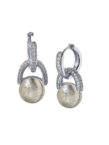 Серьги Perla Beatrice Silver Diamond 084A