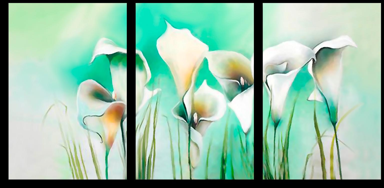 "Цветы Модульная картина ""Белые каллы"" М450.png"