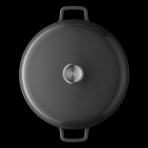 Кастрюля чугунная с крышкой 28см 6,8л Gem