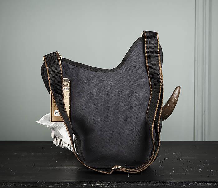 BAG307-1 Мужская сумка черного цвета из текстиля отличного качества фото 07