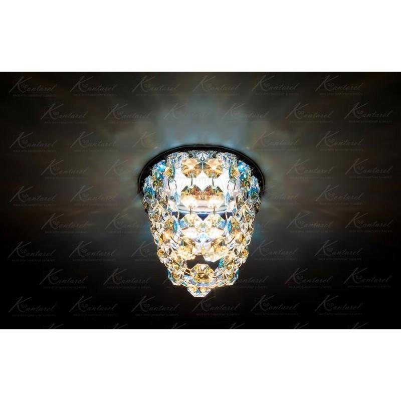 Встраиваемый светильник Kantarel BUD OCTAGON CD 019.3.1 AB crystal AB
