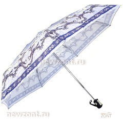 Мини зонт автомат Три Слона L4700-J в 4 сложения сиренево-синий