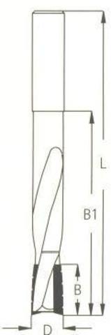 Фреза WPW спиральная паз под замок Z2 D14 B25 L160 хвостовик 16
