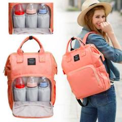 Mommy Bag. Сумка-рюкзак для мамы, персик вид 1