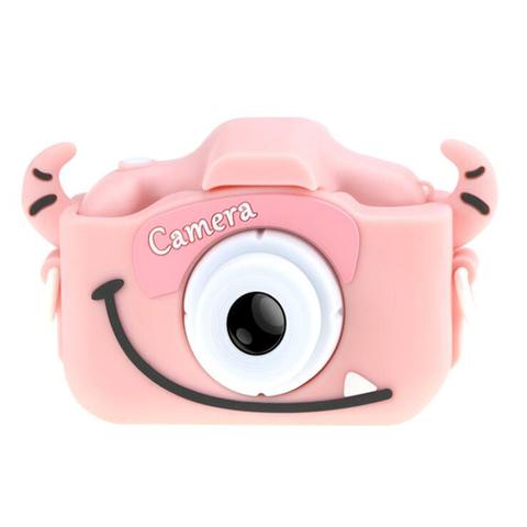 Детский фотоаппарат монстрик селфи камера розовый