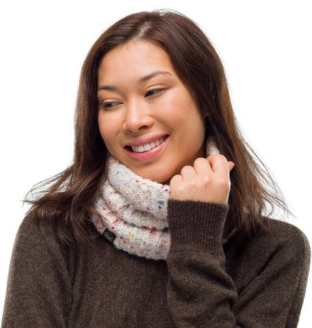 Вязаный шарф-труба с флисом Buff Neckwarmer Knitted Polar Kim White фото 2