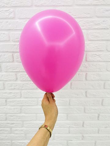 №12 Фуксия Гелиевый шар пастель 30см с обработкой