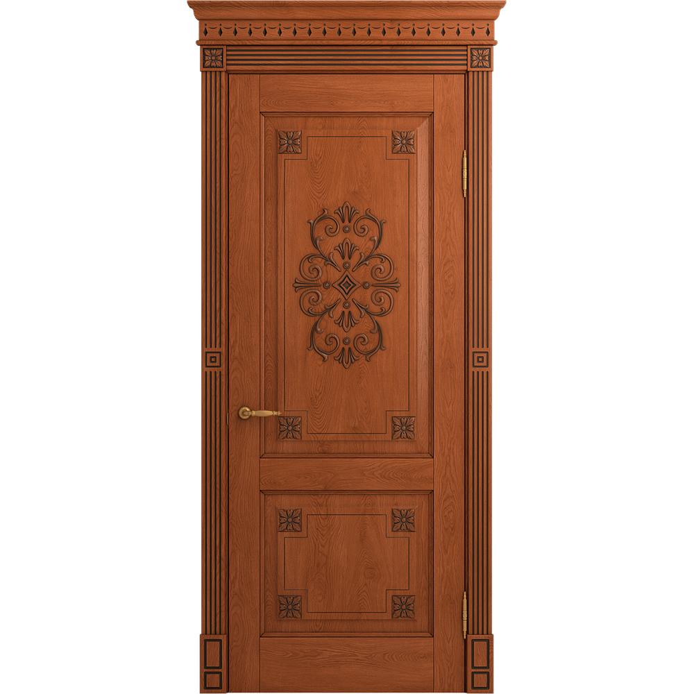Двери из массива дерева Межкомнатная дверь массив дуба Viporte Флоренция Декор табачный глухая FLORENCIYADECOR_DG_DUBTABC_1_копия.jpg