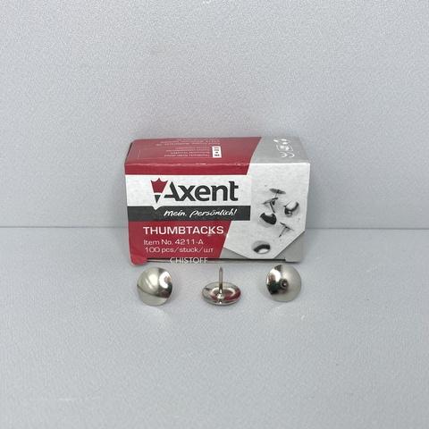 Кнопки канцелярские Axent 100 шт, бумажная упаковка