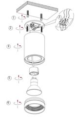 Накладной точечный светильник INL-7009D-01 White