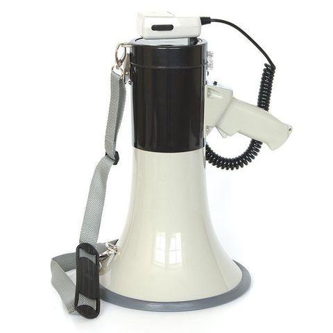 MG-220/black Мегафон ручной наплечный 25Вт(50Вт) , выносной микрофон, сирена, разъем 12В