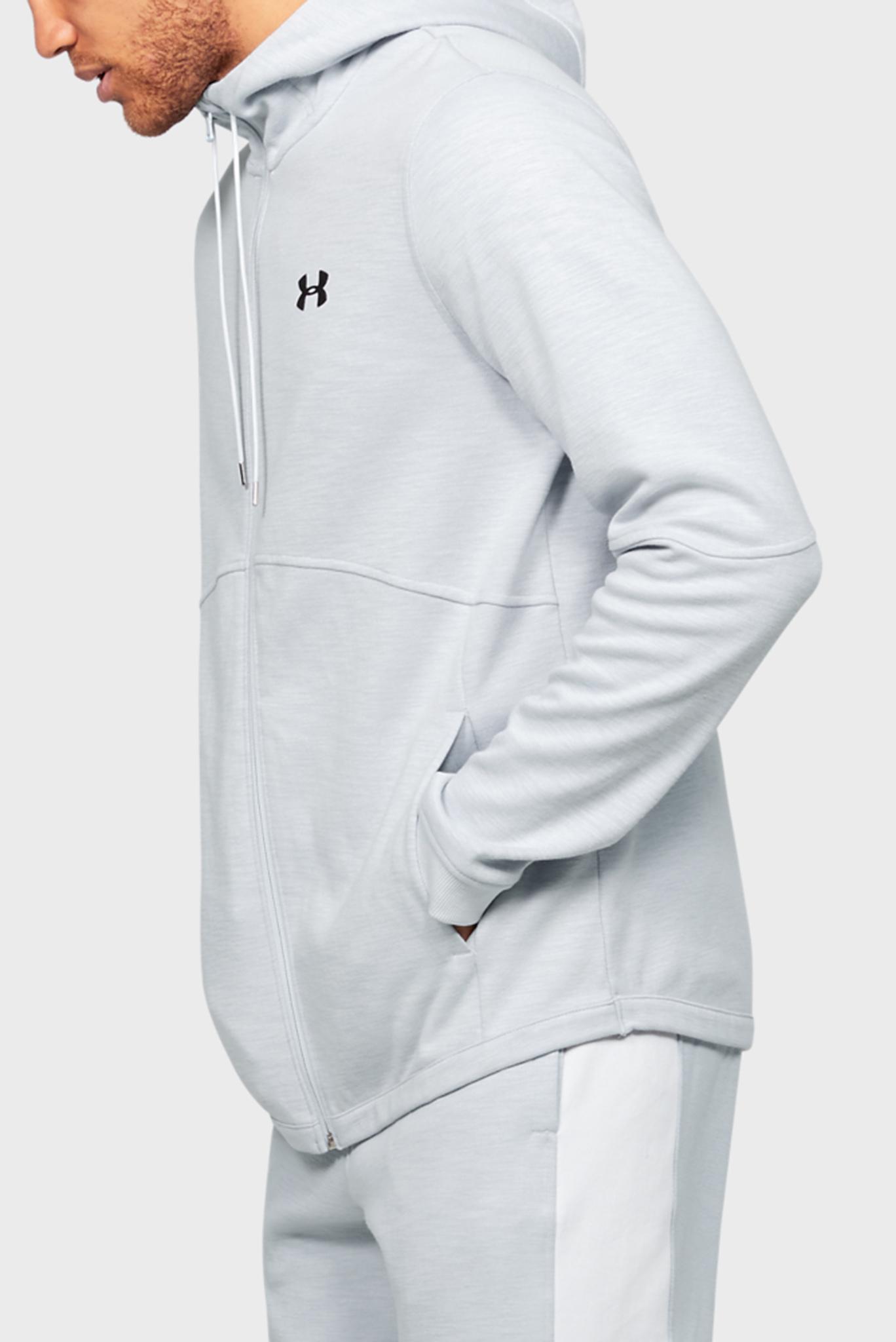 Мужское светло-серое спортивное худи DOUBLE KNIT FZ HOODIE Under Armour