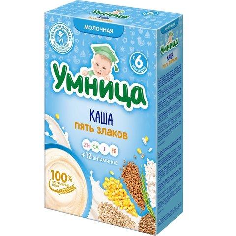 Каша Умница 5 злаков молочная 6+ мес