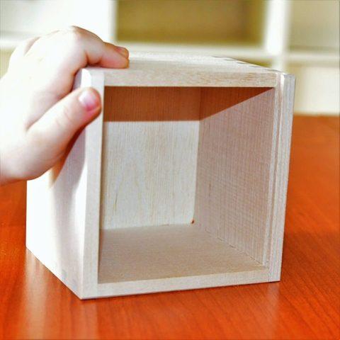 Коробочка деревянная без крышки 11х11см