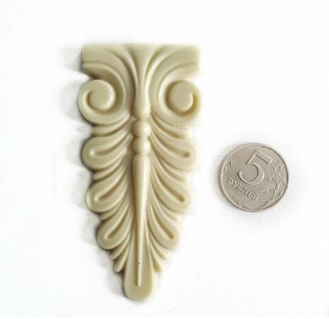 Д0892 Пластиковый декор Накладка 8х4,5 см