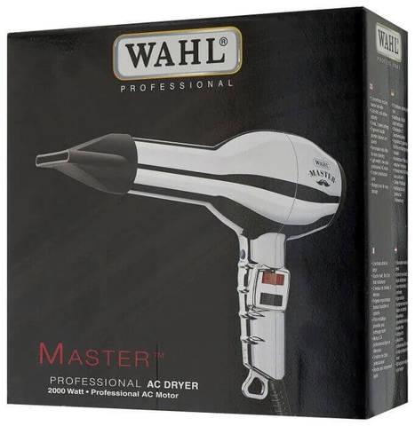 Фен Wahl Master, 2000 Вт, 2 насадки, хром