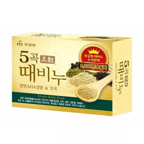 MUKUNGHWA Soap Мыло-скраб пять злаков, 100 гр Five Grains Scrub Soap 100g