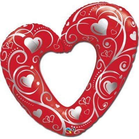 П ФИГУРА 5 Сердце Вензель Red