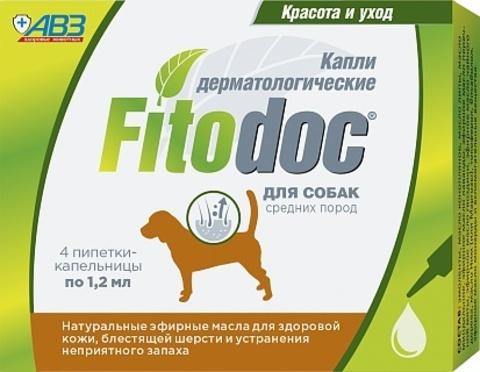 Фитодок (Fitodoc) капли для средних собак 4 пип.