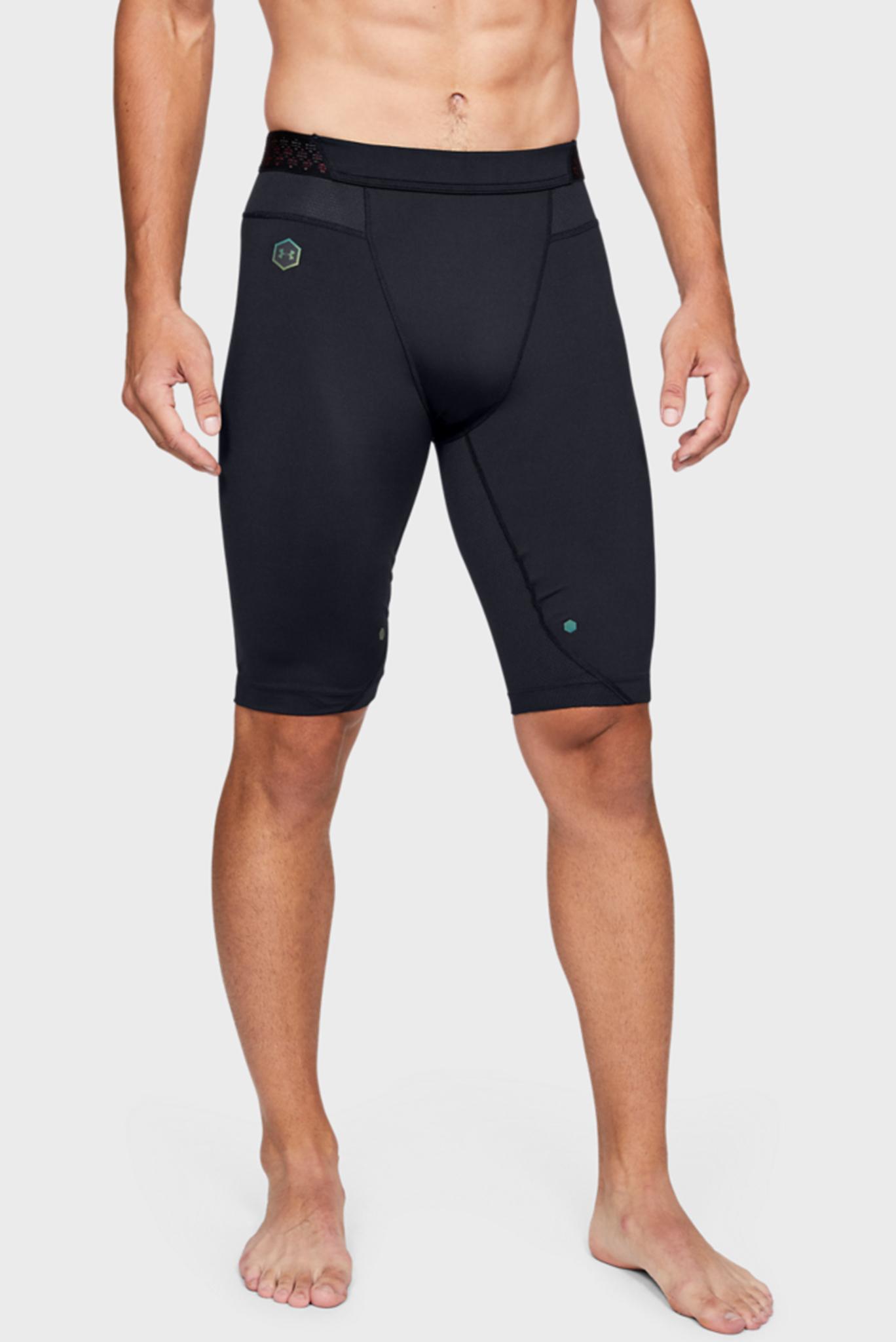Мужские черные компрессионные шорты UA HG Rush Long Shorts Under Armour