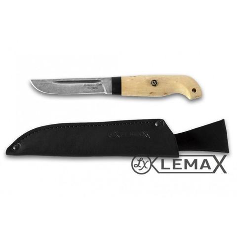 Нож Рыбак, дамаск, карельская берёза