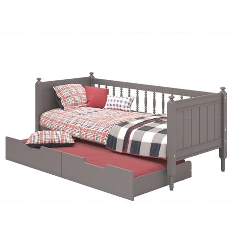 Детская выдвижная кровать премиум класса. Цвет серый (ral 7024)