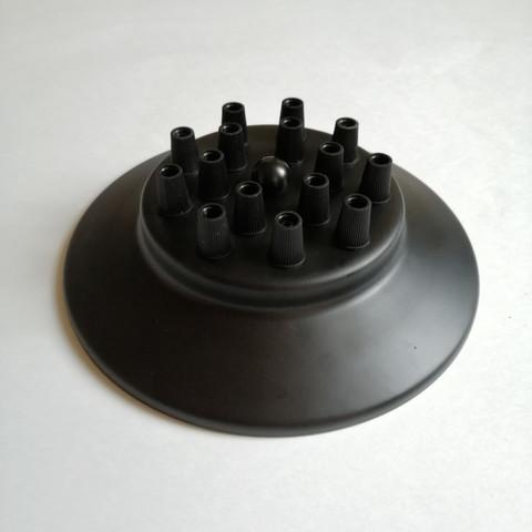 Чашка потолочная на 15 выводов (Черный)