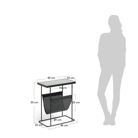 Приставной стол Vogue  металлический черный