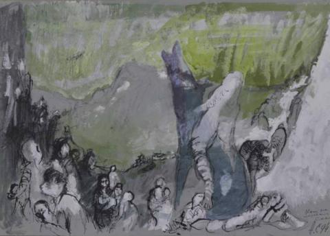Кони на перевале в Саакене