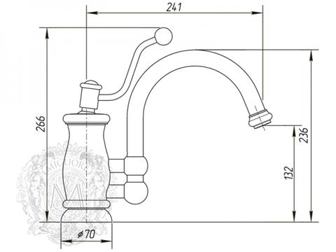 Смеситель для кухни Migliore Vivaldi ML.VIV-9930 схема