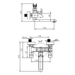 Смеситель KAISER Saturn 42022 для ванны схема