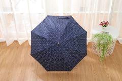 Женский облегченный зонт-трость, с защитой от УФ, ветрозащитный, 8 спиц, (синий)