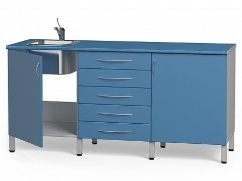 Комплект медицинской мебели БТ-04+БТ-02/4+БТ-55- 160 - фото