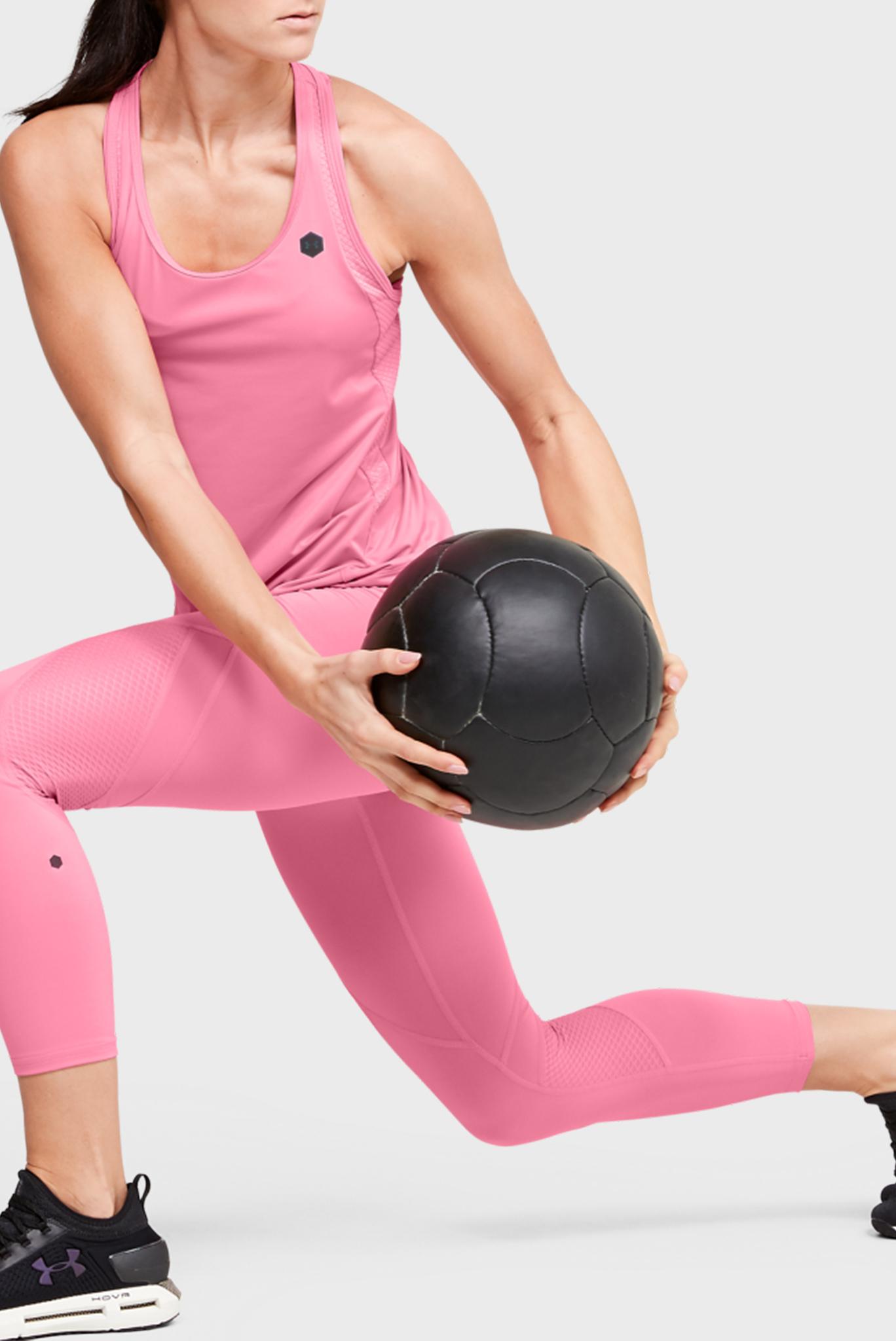 Женская розовая спортивная майка UA Rush Tank Under Armour
