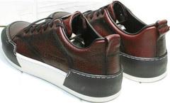 Современные кеды кроссовки мужские повседневные Luciano Bellini C6401 MC Bordo.
