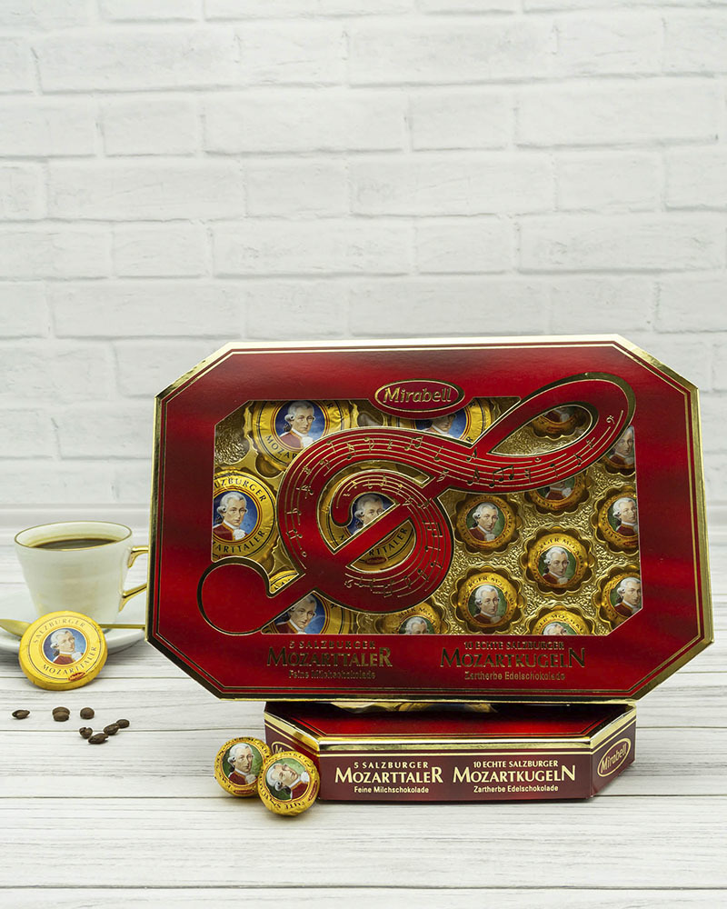 Конфеты Mirabell из Молочного Шоколада с Начинкой из Пралине и Марципана 271 гр.