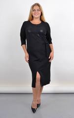 Мішель. Ошатне чорне плаття великого розміру. Чорний.