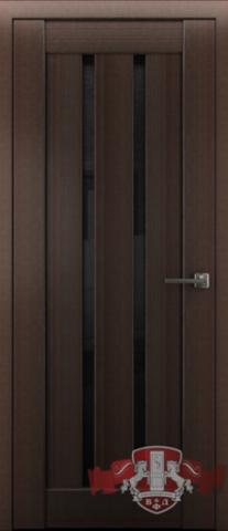 Дверь Л2ПГ4 стекло черное (венге, остекленная экошпон), фабрика Владимирская фабрика дверей