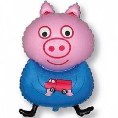 F Мини-фигура, Поросенок с игрушкой, Голубой, 14
