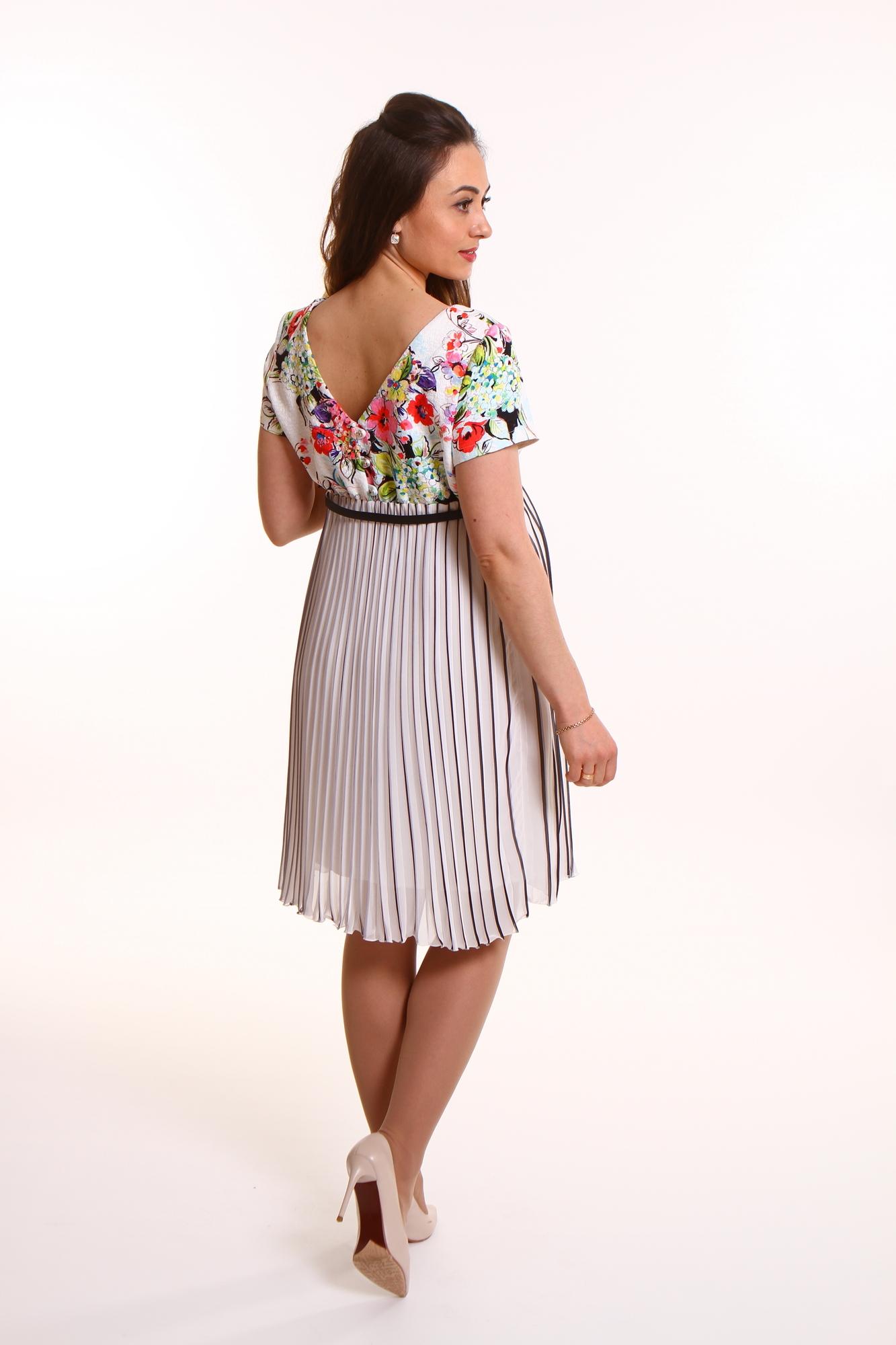 Фото платье для беременных GEMKO от магазина СкороМама, белый, размеры.
