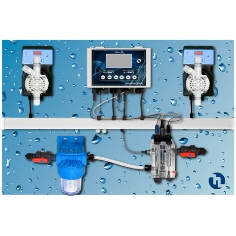 Авт.станция дозир и контр. POOL GUARD 7 (PH/CL/T) PANEL(SCL), 0-2 ppm/QPA6L10338ER