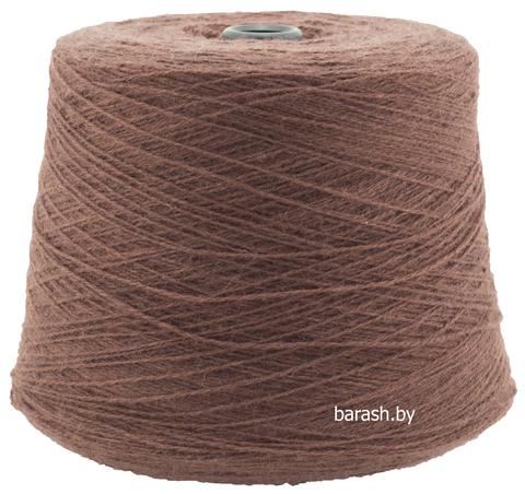 Бобинная пряжа Новозеландская 100% шерсть (50гр/175м) Цвет: коричневый. Цена за 50г