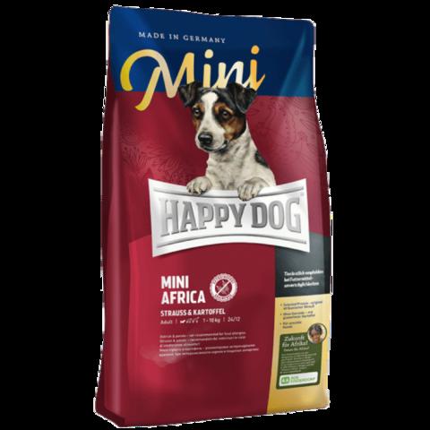 Happy Dog Supreme - Mini Africa сухой корм для собак мелких пород монобелковый корм (страус) 300г