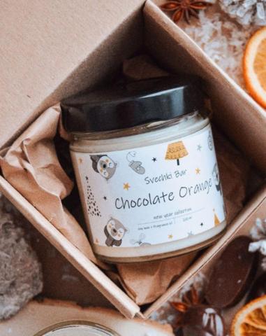 Соевая мини свеча Шоколад апельсин , 40 мл