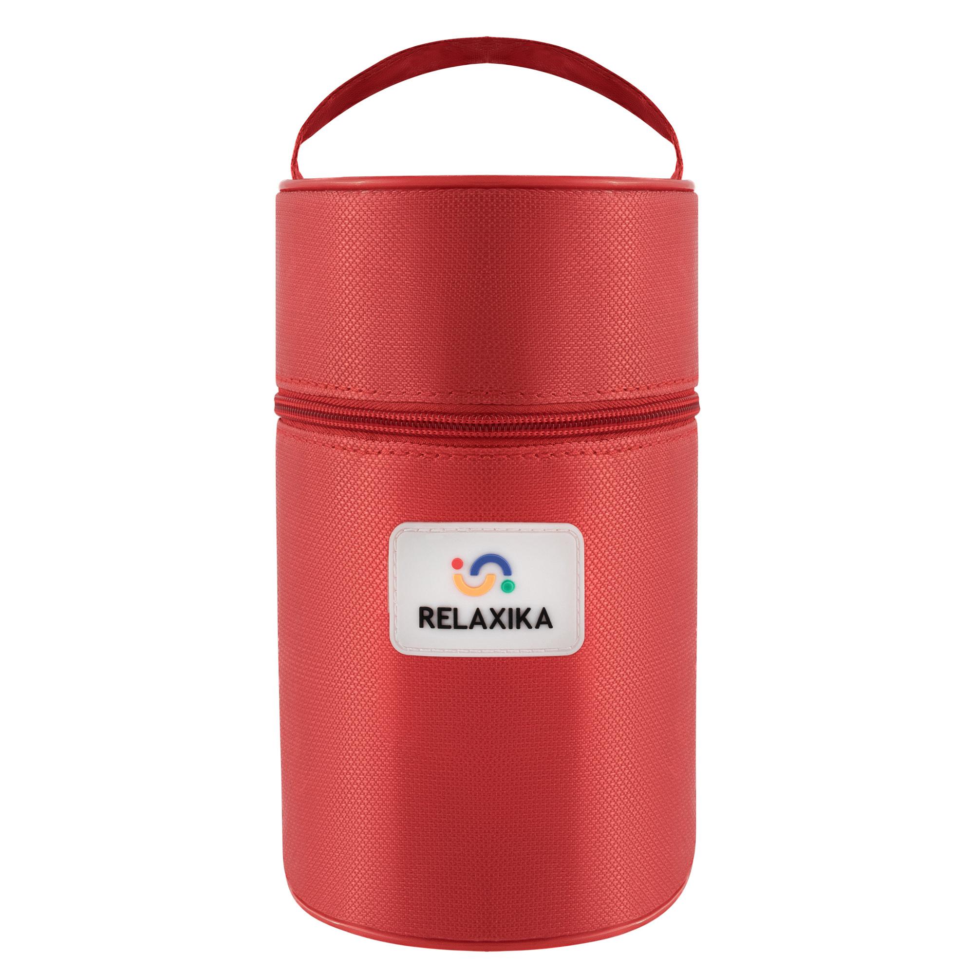 Термос для еды Relaxika 301 (1 литр) в чехле, стальной