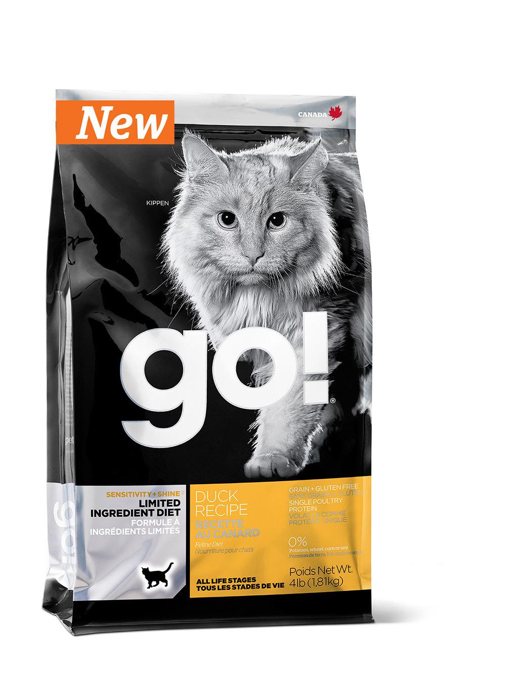 сухой беззерновой корм Go Гоу  для котят и кошек с уткой для чувствительного пищеварения