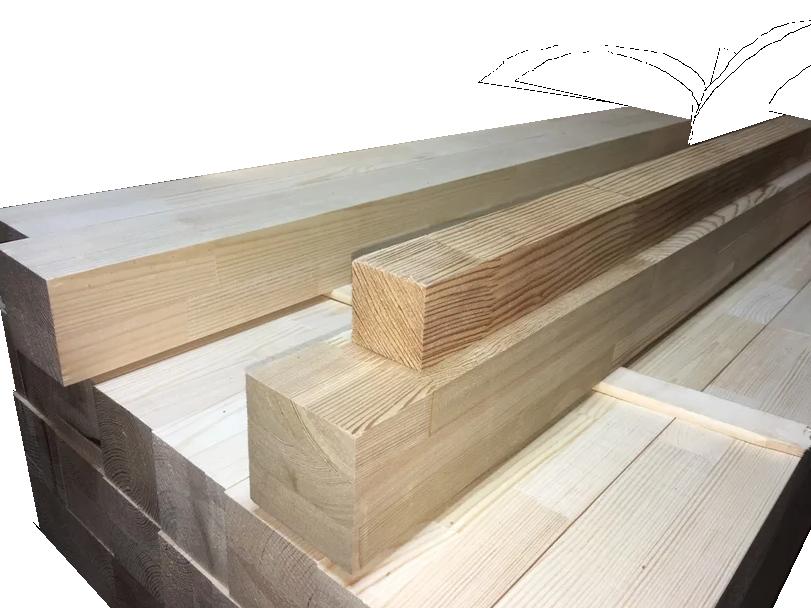 Мебельный брус - лиственница цельноламельная 50 мм х 50 мм х 900 мм