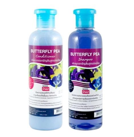Шампунь и кондиционер с экстрактом синего чая (Banna Butterfly Pea 2х360 ml)