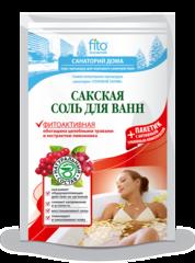 Соль для ванн Сакская Фитоактивная 500 г. ТМ Фитокосметик