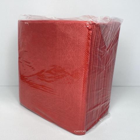 Салфетки Papero 33х33 см 2сл. (100 шт.) красные (NL524(NL544))